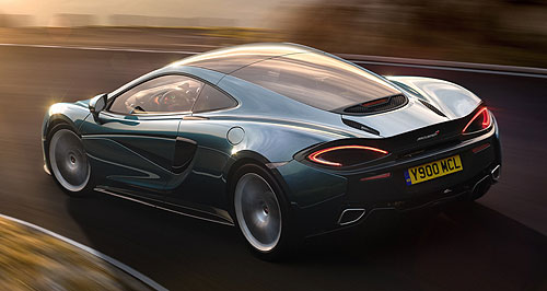 McLaren 570GT Deluxe Big Mac: McLaren's new 570GT will be its most luxurious model to date, featuring more storage capacity and softer suspension for long-distance travel comfort.