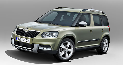 Skoda 2014 Yeti Creature comforts: The updated Skoda Yeti will arrive in Australia mid next year and could be available in two distinct variants.