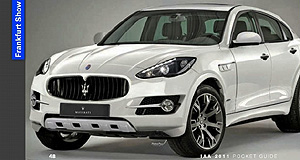Maserati 2014 SUV Italian stallion: Leaked Frankfurt show pocket guide image of Maserati's first SUV has emerged five days early.