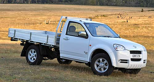 Great Wall V240 Single cabPrice leader: Great Wall's new single-cab V240 ute can be had for $17,990 - driveaway.