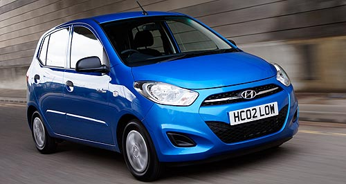 Hyundai 2012 i10 Upmarket feel: Indian-sourced Hyundai i20 is consistently outsold by its cheaper Getz sibling by three to one.