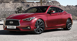 Infiniti 2017 Q60 Form a Q: The Q60 will be offered internationally with a V6 in two states of tune, along with a four-cylinder unit, but Australian specifications are yet to be announced.
