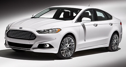 Ford 2013 Mondeo Unveiled: Ford has revealed images of the next-generation Fusion/Mondeo global mid-sizer.