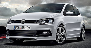Volkswagen 2013 Polo RThe white Line: Although a hot Polo R is still at least a year away, Volkswagen presented this more cosmetic R-Line package at the Frankfurt show, as well as a WRC homologation special.