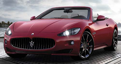 Maserati 2012 GranCabrio SportFlying trident: Sport version of the GranCabrio four-seat convertible gets a power boost and styling tweaks.