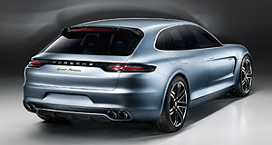 Porsche  Hot wagon: The Porsche Panamera Sport Turismo concept was revealed at the Paris motor show last month.