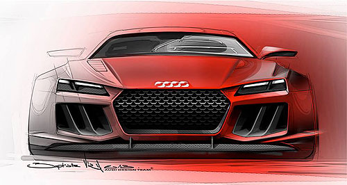 Audi 2014 Quattro Sporting future: The Audi Quattro sports coupe concept will be unveiled at the Frankfurt motor show next month.