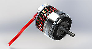 General News Emissions Bright spark: The adaptive magnetic flux array motor dispenses of a separate inverter and transmission to reduce size and cost.