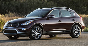 Infiniti 2016 Q30 Top 50: The QX50 is unlikely to be added to the Australian Infiniti line-up until the next-generation version arrives.