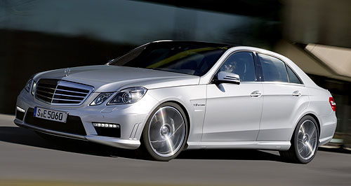General News Sport Power player: Eerbus Racing will use a modified Mercedes-Benz V8 that produces 458kW, compared to the 5.5-litre twin-turbo road-going E63 AMG (left) capable of 386kW.