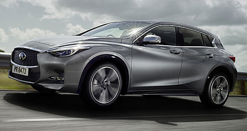 Infiniti  Q forming: Infiniti's biggest launch this year will be the Q30 hatch (below) but the Q60 coupe (left) also arrives in 2016.