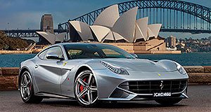 Ferrari F12 Berlinetta Sydneysider: How's that for a view? This Ferrari F12 Berlinetta now calls the Harbour City home.