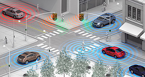 "General Motors  Peer pressure: Latest generation Wi-Fi peer-to-peer phone technology could enable drivers to ""see"" other cars, pedestrians and cyclists, even in poor light and weather conditions."