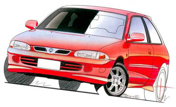 1997 Proton Satria XLi 3-dr hatch Car Review