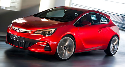 Opel 2012 Astra GTCSeeing red: The Opel Astra GTC was revealed for the first time in final production guise at last week's Frankfurt motor show.