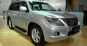 Lexus 2008 LX Luxo-SUV: The all-new LX will be available in two equipment grades.