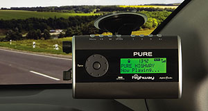 BMW  Radio static: Until more manufacturers fit digital radios to their vehicles, listeners are limited to aftermarket options like the Pure Highway digital receiver (pictured).