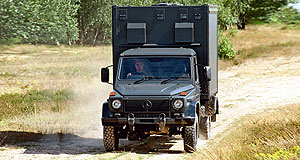 Mercedes-Benz G-Class Versatile: One of the many uses the iconic Benz G-Wagon will be put to.
