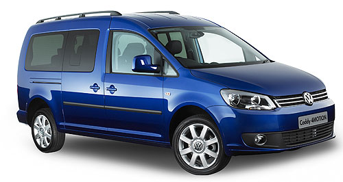 Volkswagen Caddy 4MotionFour paws: Volkswagen has pulled the covers from the all-wheel drive Caddy van variant.