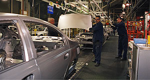 Ford  Production slowdown: Ford's build rate will drop from 52 vehicles an hour to 40.
