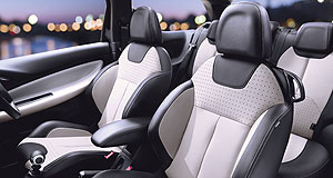 Citroen DS3 Premium leather: The Citroen DS3 comes with two-tone leather at no extra cost for a limited time.