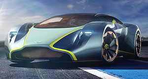 Aston Martin 2018 AM-RB 001 Tron tease: Aston Martin's DP-100 Gran Turismo car was confined to the virtual world, but might hold a few secrets of the company's 2018 hypercar.
