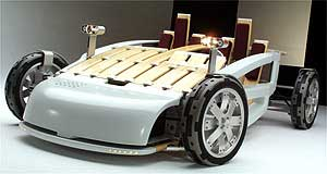 Ford MA Bamboozled: The MA uses a futuristic combination of bamboo, aluminum and carbon-fibre.