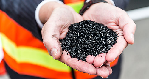 General News Technology Aussie hoops: Recycling tyre rubber is a difficult process because of the various components in a tyre including a significant amount of steel.
