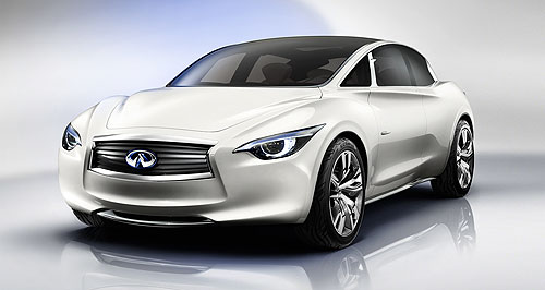 Infiniti 2014 Etherea Steyr it up: The forthcoming Infiniti small car to be assembled by Magna Steyr is said to be inspired by the 2011 Etherea concept.