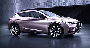 Infiniti 2015 QX30 X rated: The new Infiniti Q30 is set to spawn a small SUV dubbed QX30.