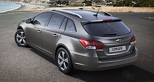Holden 2013 Cruze WagonWagon the tail: Holden's Cruze wagon will arrive in Australian showrooms in January next year.