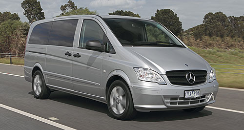 Mercedes-Benz Valente Bridging act: The Valente is priced only $1500 more than the previous position occupied by the Vito Wagon, but is fitted with a host of extra equipment to offer better value and a bridge between Vito and Viano.