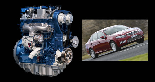 Ford Falcon Blue future: Ford's EcoBoost four-cylinder engine will be dropped into the Australian Falcon from 2011.
