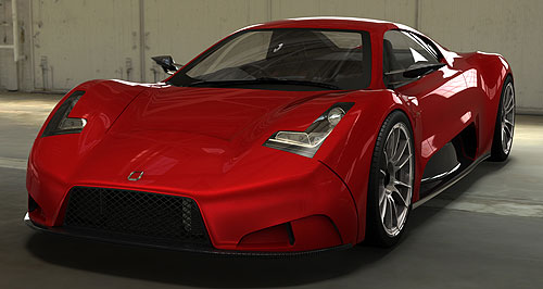 Joss 2013 JP1 Local hero: Australian company Joss will display its latest supercar prototype at this year's AIMS.