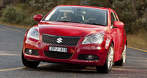 Suzuki Kizashi sedan rangeMoving up: Suzuki's first mid-sizer is Kizashi - Japanese for 'something good is coming'.