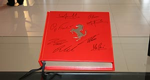 Ferrari  Signed: The first copy of the &#8216;Diamonte&#8217; edition <i>Opus</i> on the first leg of its world tour, seen here at Zagame Ferrari in Melbourne.