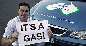 Ford  Pro-gas: Craig Lowndes during the Ford LPG Challenge in 2006.