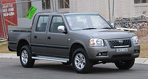 Great Wall  Warning label: A number of Chinese-built vehicles sold in Australia, including the Great Wall SA-series ute (pictured) have been found to contain asbestos.