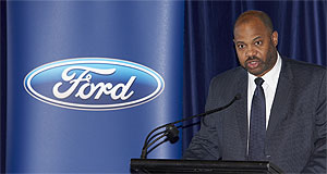 Ford  Firm stand: Bill Osborne does not see how emissions and the luxury car tax are linked.