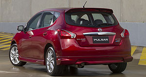 Nissan 2013 Pulsar SSSSSSneak peek: Australians can preview Nissan's new sporty Pulsar SSS hatch at the Sydney motor show, where it will be unveiled alongside the Pulsar sedan.