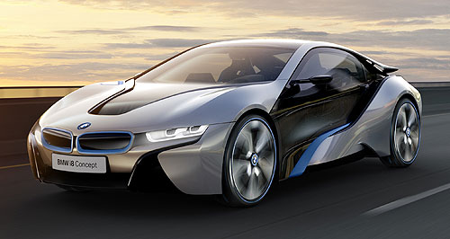 BMW  Lucky number three: The tiny triple will likely debut as a supplementary power source in the forthcoming BMW i8 plug-in sportscar.