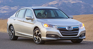 Honda 2014 Accord PHEVPlug and go: The Honda Accord plug-in hybrid is claimed to have a total range of more than 80km, with up to 24km of travel on electricity alone.