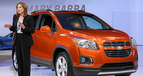 General Motors  General coincidence: GM CEO and chairman Mary Barra announced that GM's global pre-tax profit was $10.8 billion – identical to cross-town rival Ford's.