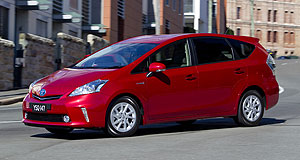 Toyota Prius V V frugal: The Toyota Prius V sets a benchmark fuel economy figure of 4.4 litres per 100km for the people-mover segment.