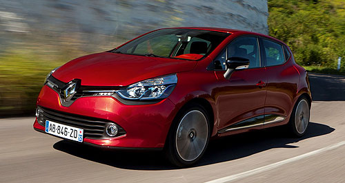 Renault 2013 Clio Comeback kid: Renault's fourth-generation Clio will land in Australia mid next year and do battle with sales champs like the Mazda2 and other Euro light cars like the Volkswagen Polo.