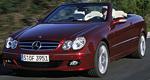 Mercedes-Benz 2005 CLK-class Faster, safer: new engines and safety features comprise the CLK facelift.