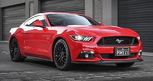 Ford Mustang Popular pony: Ford's Mustang is on track to outsell the Australian-built Falcon that ends production in October this year.