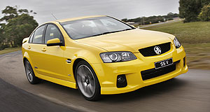 Holden  Get moving: Holden buyers can have a Commodore SS-V like this one on 0.5 per cent finance.