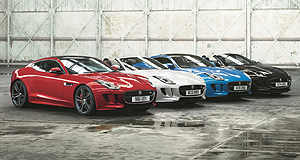 Jaguar F-Type British Design EditionFlagship: The four exclusive British Design Edition colours celebrate the colours of the UK's Union Jack flag, but match the Australian Commonwealth Star perfectly too.