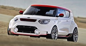 Kia 2015 Trackster Track and field: The Kia Track'ster lives up to its name with an overall width of 1918mm.
